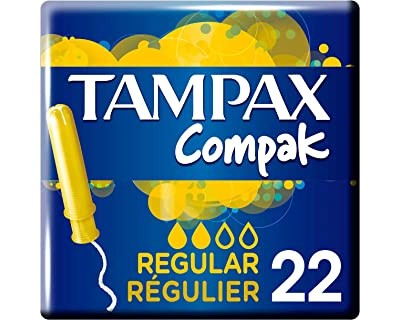 TAMPONES TAMPAX COMPAK REGULAR - 22 UNIDADES