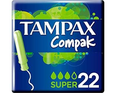 TAMPONES TAMPAX COMPAK SUPER - 22 UNIDADES