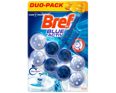 BREF W.C. DESINFECTANTE BLUE ACTIVE PACK 2 UNIDADES