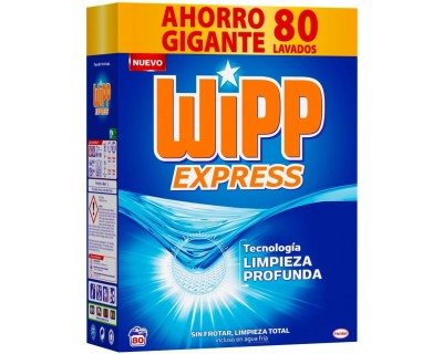 MALETA DETERGENTE EN POLVO WIPP EXPRESS 80 CACITOS