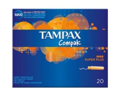 TAMPONES TAMPAX COMPAK SUPER PLUS 20 UNIDADES