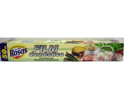 ROLLO FILM TRANSPARENTE 2 ROSAS 50 METROS