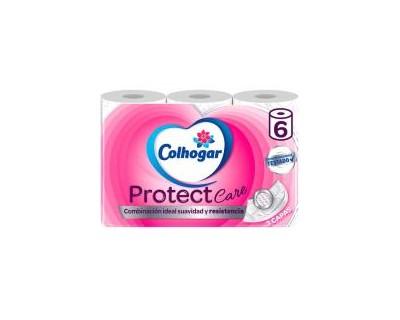 PAPEL HIGIENICO COLHOGAR PROTEC 3 CAPAS - 6 UNIDADES