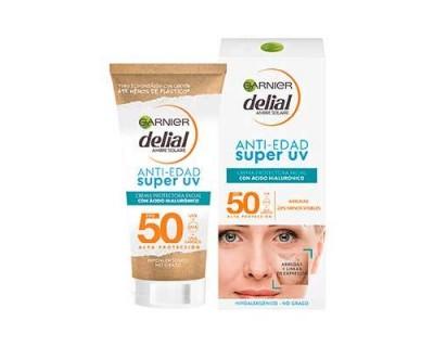 BRONCEADOR FACIAL DELIAL ANTI-EDAD SUPER UV FACTOR 50 - 50 ML