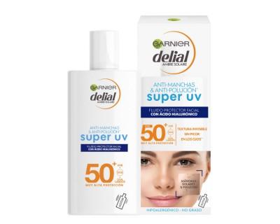 BRONCEADOR FACIAL DELIAL SENSITIVE ADVENCED SUPER UV FLUID FACTOR 50+ - 40 ML