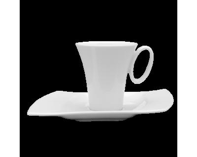 PLATO CAFE 16.5 CM MODELO WING