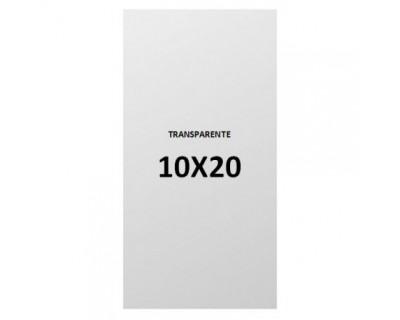 PAQUETE BOLSAS PLASTICO TRANSPARENTE 10X20 - 1 KILO