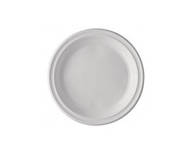 PAQUETE PLATO PLASTICO LLANO 20,5 CM - 100 UNIDADES