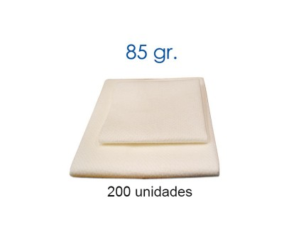 CAJA TOALLA SUPERABSORBENTE 85 GRAMOS 40X80 CM - 200 UNIDADES