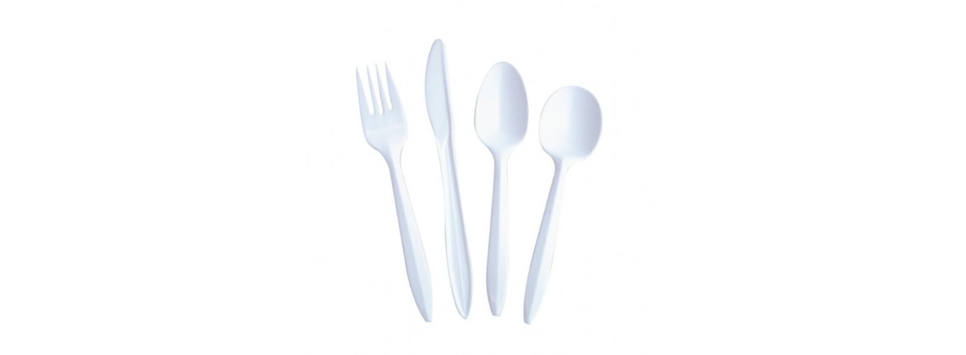 Todo tipo de cubiertos de plástico en galisl.com Tu web de la Hostelería